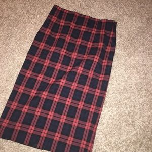 Plaid Zara Midi Skirt